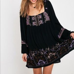 Free People embroidered Tunic Top XS